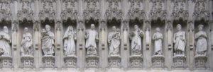 Статуи мучеников. Вестминстерское аббатство, западный фасад