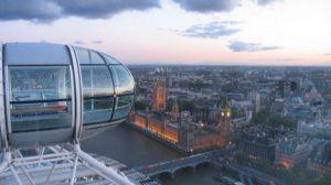 Лондонский глаз. Вид из кабинки
