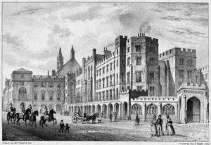 Вестминстерский дворец до пожара 1834 года